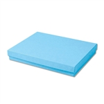 "Light Blue Kraft Jewellery Boxes - 7"" x 5"" x 1-1/4"" 100 Boxes/Pack"