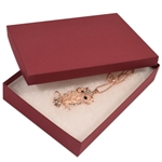 "Merlot Burgundy Jewellery Boxes - 7"" x 5"" x 1-1/4"""