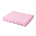 "Pink Kraft Jewellery Boxes - 7"" x 5"" x 1-1/4"" 100 Boxes/Pack"