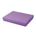 "Purple Kraft Jewellery Boxes - 7"" x 5"" x 1-1/4"" 100 Boxes/Pack"