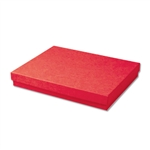 "Red Kraft Jewellery Boxes - 7"" x 5"" x 1-1/4"" 100 Boxes/Pack"
