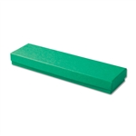 "Dark Green Kraft Jewellery Boxes - 8"" x 2"" x 7/8"" 100 Boxes/Pack"