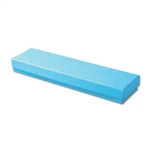 "Light Blue Kraft Jewellery Boxes - 8"" x 2"" x 7/8"" 100 Boxes/Pack"
