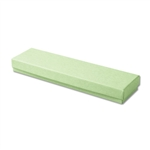 "Light Green Kraft Jewellery Boxes - 8"" x 2"" x 7/8"" 100 Boxes/Pack"