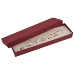 "Merlot Burgundy Kraft Jewellery Boxes - 8"" x 2"" x 7/8"""