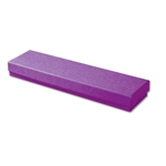 "Purple Kraft Jewellery Boxes - 8"" x 2"" x 7/8"" 100 Boxes/Pack"