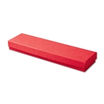 "Red Kraft Jewellery Boxes - 8"" x 2"" x 7/8"" 100 Boxes/Pack"