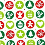 Gift Wrap Ornaments Christmas Pattern