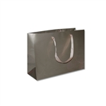 "Ribbon Handle Bags- 12-1/2"" x 4-1/2"" x 9"" Gloss Champagne - 100/Pack"