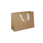 "Ribbon Handle Bags - 12-1/2"" x 4-1/2"" x 9"" Kraft - 100/Pack"
