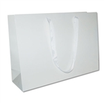 "Ribbon Handle Bags - 20"" x 6"" x 14"" Gloss White - 50/Pack"