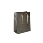 "Ribbon Handle Bags - 8"" x 4"" x 10"" Gloss Champagne - 100/Pack"