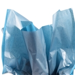 Metallic Silver and Turquoise Tissue Paper