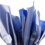 Metallic Silver and Sapphire Tissue Paper