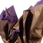 Metallic Gold and Lavender Tissue Paper
