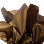 Metallic Gold and Chocolate Tissue Paper