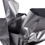 Metallic Silver and Black Tissue Paper