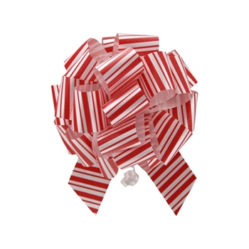 Christmas Peppermint Stripe Pull Bows