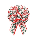 Christmas Holly Pull Bows