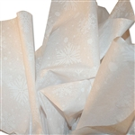 "White Snowflake Pattern Tissue Paper - 20"" x 30"" Sheets - 240 / Pack"