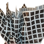 Grid Squares Patterned Tissue Paper