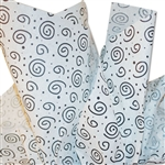 Black & White Swirls Patterned Tissue Paper