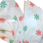 Red/Green Snowflake Printed Tissue Paper