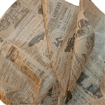 Vintage Newspaper Printed Tissue Paper