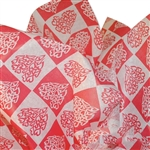Hearts Check Printed Tissue Paper