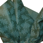 Oak Leaves Green Printed Tissue Paper