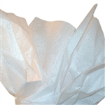 Mums (White on White) Patterned Tissue Paper