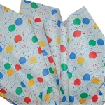 "Party Balloon Pattern Tissue Paper 20"" x 30"" Sheets - 240 / Pack"