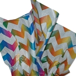 Rainbow Zig Zag Patterned Tissue Paper
