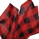 Red Lumberjack Plaid Patterned Tissue Paper