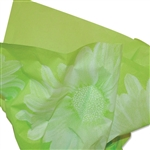 Big Flower Lime Patterned Tissue Paper