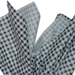 Black & White Gingham Tissue Paper