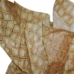 Crocodile Brown Patterned Tissue Paper