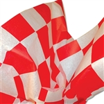 "Checkerboard (1-1/2"" Check) Red/White Printed Tissue Paper"