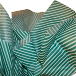 "Dizzy Diagonals Green Stripes Pattern Tissue Paper - 20"" x 30"" Sheets - 240 / Pack"