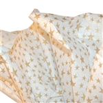 Gold Star Dancing Patterned Tissue Paper