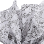 Toile Pattern Black & White Tissue Paper
