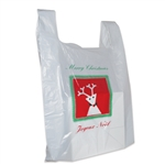 Christmas Large Plastic T-Shirt Bags S10