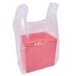 Frosted Clear Plastic T-Shirt Bags S5