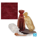 Burgundy Gusseted wine organza bags
