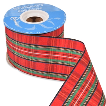Stewart Plaid Holiday Ribbon