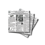 Waxed Tissue Paper Basket Liners - Newspaper Print