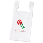 Rose Plastic T-Shirt Bags