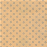Silver Dots on Kraft Gift Wrap Wholesale