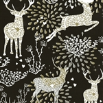 Gift Wrap Christmas Paper - Gold/Silver Reindeer