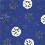 Gift Wrap Shimmer Blue Snowflakes Christmas Pattern